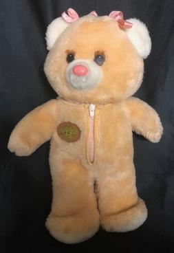 """1985 Tomy Undercover Bears PANDIES 12"""" Plush Teddy Hearts Pa"""