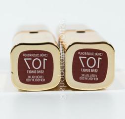 2 Loreal Colour Riche Lipstick #107 SEINE SUNSET
