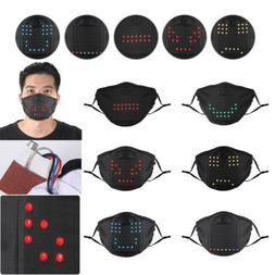 2020 Voice Activated LED Face Mask - Imitates Lips Speaking