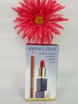 2pcs Estee Lauder Lip Liner Nude & Pure Color Envy #340 Envi