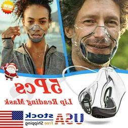 5X Reusable Mask Face Shields Combine Transparent Durable Fa
