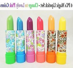 6 PCs Princessa Color Changing Magic Lipstick with Aloe Vera