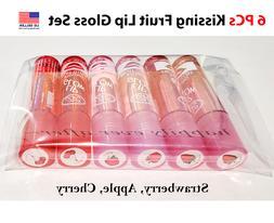 6 PCs BR Lip Glow Kissing Fruit Gloss Set - New & Authentic,