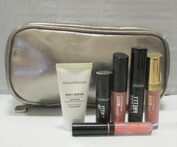 BAREMINERALS 6 PIECE SET WITH BAG ~ FACE ~ EYES ~ LIPS ~ SEE