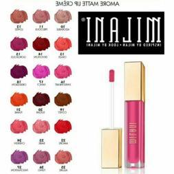 Milani Amore Matte Lip Creme Womens Red Pink Nude Brown Dark