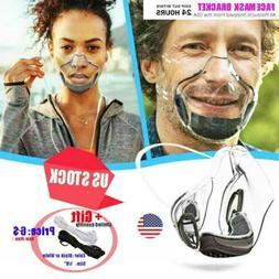 Durable Mask Face Shields Combine Transparent Face Mask Lip