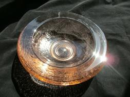 Fire and Light Recycled Art Glass Copper Wide Lipped Bowl Un