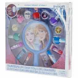 Disney Frozen 2 Cosmetic Set Nail Polish Lip Gloss Mirror Gi