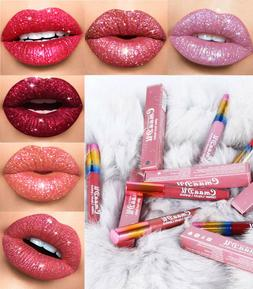 CmaaDU Glitter Flip Liquid Lipstick Matte Transforming Water