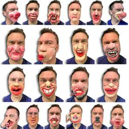 Half Face Comedy Funny People Face Mask Stag Hen Latex Party