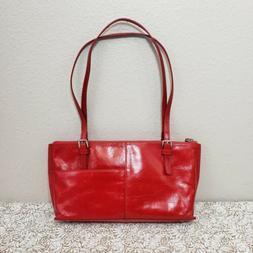 Hobo International Womens Lipstick Red Angelica Leather Shou