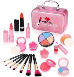 Kids Makeup Kit for Girls,Kids Cosmetics Make Up Set With Co