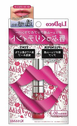 KISSME Lip Deco Plumper Tint Lipstick 01 Rose Pink Serum Ing
