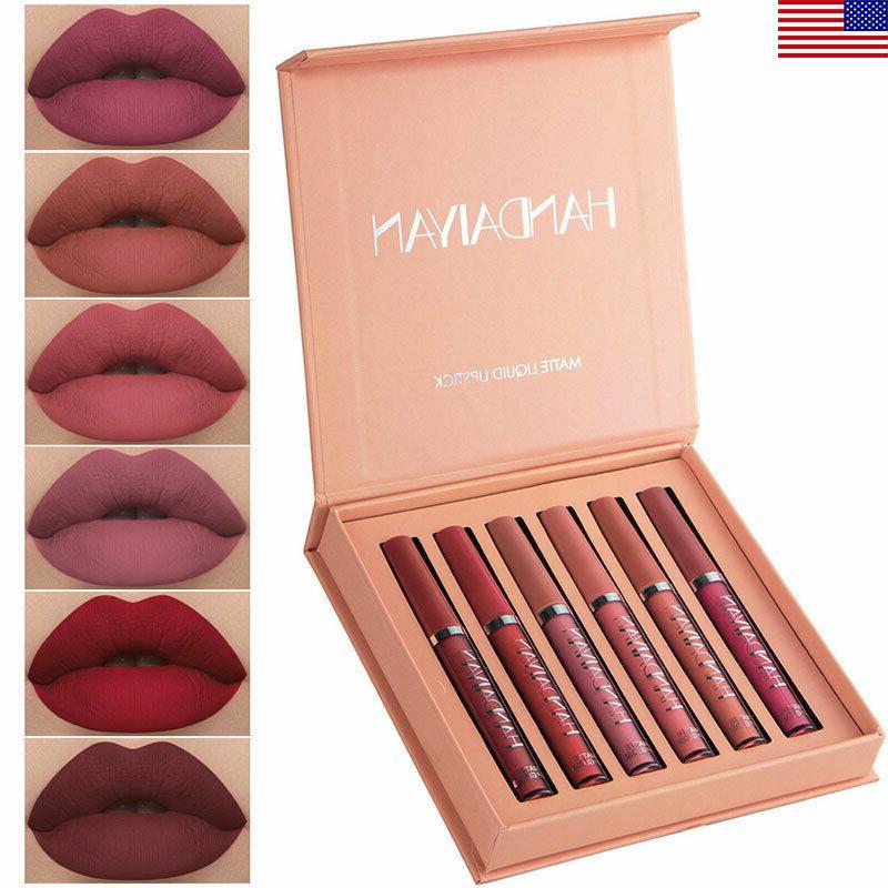 6pcs matte lipstick set waterproof long lasting