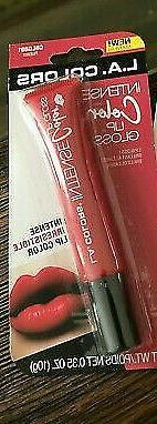 L.A. COLORS Intense Color Lip Gloss CBLG891 RUBIES .35 oz. N
