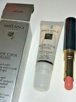 LANCOME Juicy Wear Ultra-Lasting Lip Duo Clear coat & Lipsti