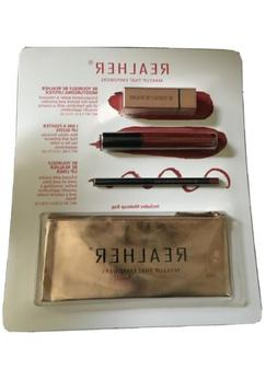 """REALHER Lipstick """"Makeup That Empowers"""" Kit in Deep Red + Ma"""