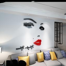 Marilyn Monroe 3D Wall Sticker Acrylic Bedroom home Decor Re