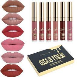 Beauty Glazed Matte Nude Liquid Lipstick Gloss Kit Waterproo