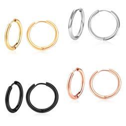 Men Women Stainless Steel Huggie Hoop Earrings Cartilage Lip