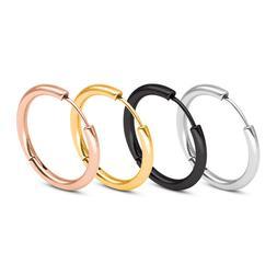 Men Women Stainless Steel Small Huggie Earrings Cartilage Li