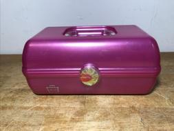 CABOODLES PINK Big Cosmetic Organizer Makeup Case w/Mirror K