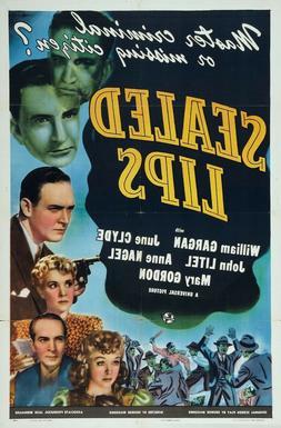 SEALED LIPS 1942  RARE CRIME FILM NOIR  ON DVD