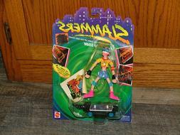 Vintage 1990 Mattel Slammers Lip Slide Action Figure - Brand