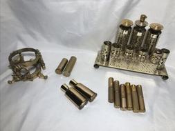 Vintage Lipstick Holder Dish Perfume Makeup In Gold Tubes Ca