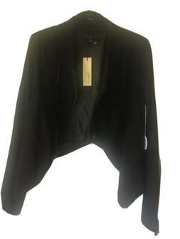 Sugar Lips Women Asymmetrical Cropped Fashion Jacket Sz M NW
